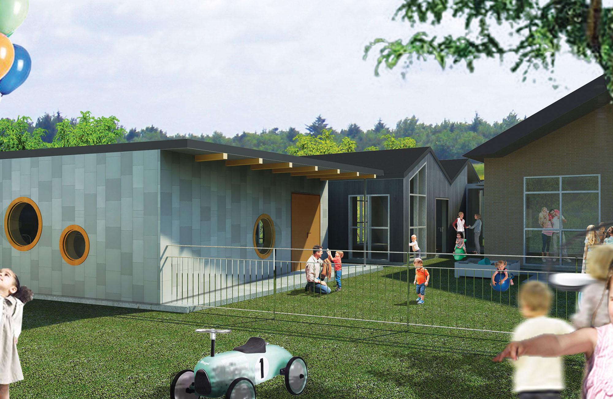 Ombygning og udvidelse af børnehuset Vestbakken, Tårs