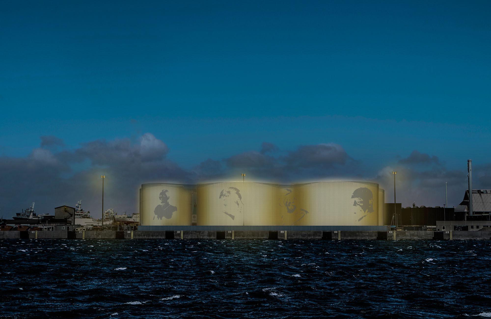 Udsmykning af olietanke, Skagen Havn
